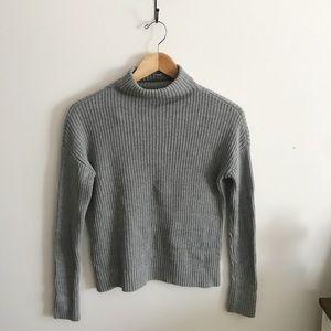 BP gray mock neck sweater
